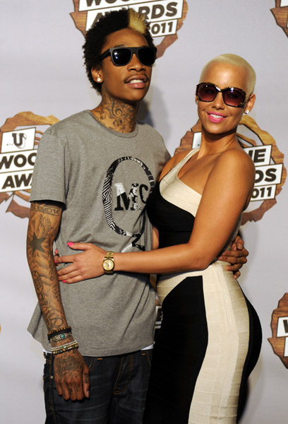 amber rose and wiz khalifa pictures. Amber Rose and current