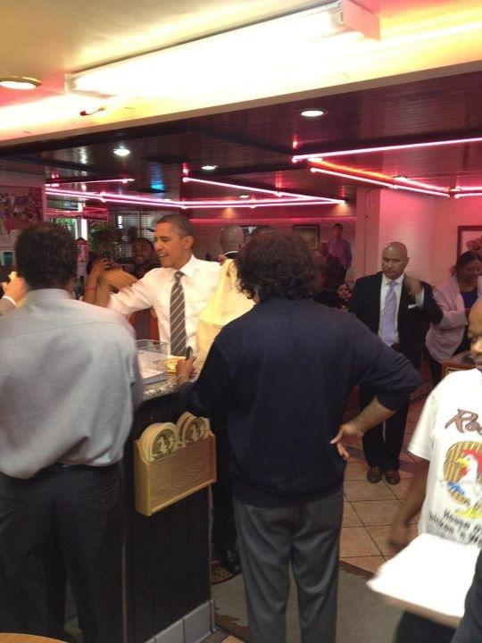 Obama hits up Roscoe's House of Chicken & Waffles! | A M