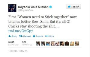 KEYSHIA COLE THROWS SHADE