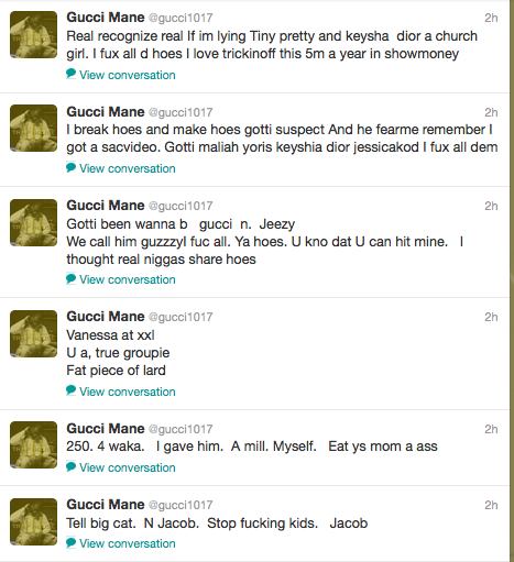 316a14f056f Gucci Mane s Insane Twitter Rant  Attacks Nicki Minaj