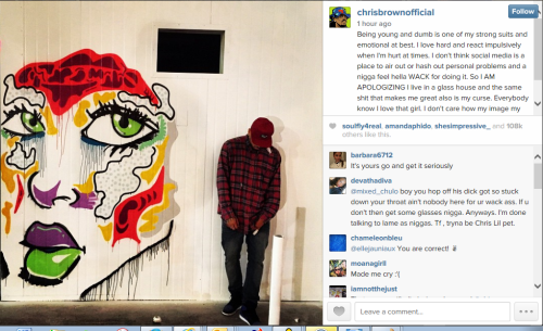 Chris Brown Apologies To Karrueche