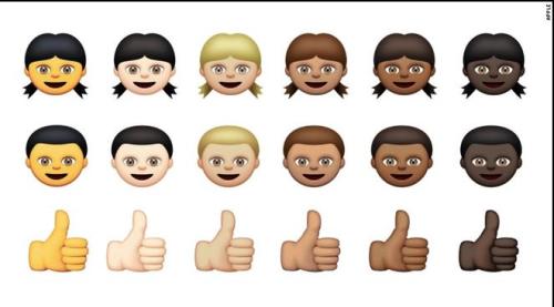 diverse emojis