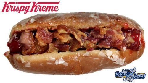 krispy kreme donut dog